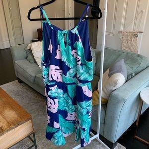 Palm Leaf Gibson Dress